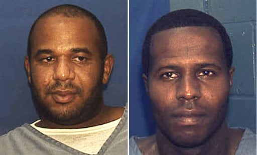 This undated combo of photos provided by the Florida Department. of Corrections shows Joseph Jenkins, left and Charles Walker.