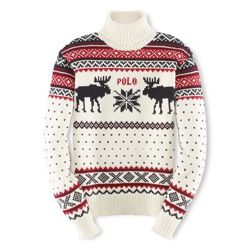 This undated product image provided by Ralph Lauren shows a reindeer turtleneck, part of the official gear of the U.S. Olympic team.