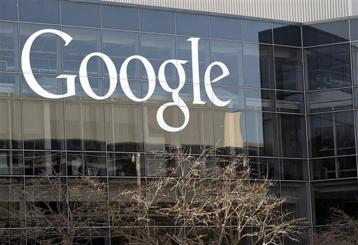 FILE - This Jan. 3, 2013, file photo shows a Google sign at the company's headquarters in Mountain View, Calif. (AP)