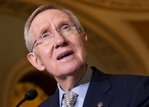 FILE - In this Oct. 29, 2013 file photo, Senate Majority Leader Harry Reid, D-Nev. speaks on Capitol Hill in Washington. (AP)