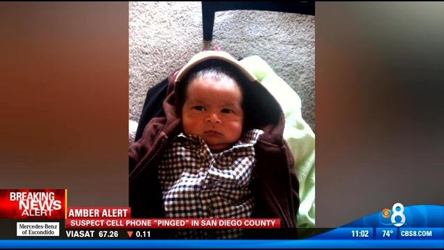 An Amber Alert has been issued for Henry Guler-Romero, seen in this video screen image. He is only a few weeks old.