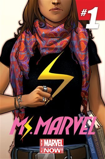 "This comic book cover image released by Marvel Comics shows character Kamala Khan on the ""Ms. Marvel"" issue."