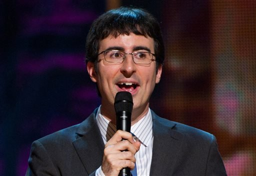 FILE - In this Oct. 2, 2010 file photo, John Oliver appears on stage at Comedy Central's 'Night Of Too Many Stars: An Overbooked Concert For Autism Education' at the Beacon Theatre in New York. (AP)