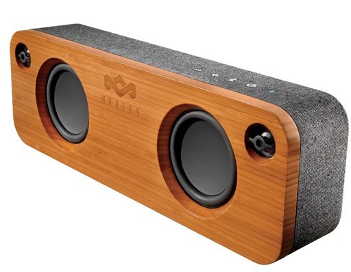 This photo provided by Blue Wolf Communications, Inc. and House of Marley LLC shows the Marley Get Together, a Bluetooth speaker made with Eco-friendly materials.