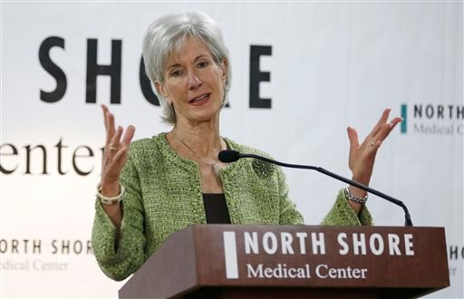 Department of Health and Human Services Secretary Kathleen Sebelius responds to questions during a news conference at the North Shore Medical Center, Tuesday, Nov. 19, 2013, in Miami. (AP)