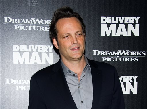 "This Nov. 17, 2013 file photo shows Vince Vaughn at a screening of ""Delivery Man"" hosted by The Cinema Society and DreamWorks Pictures in New York."