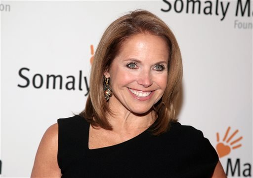 FILE - This Oct. 23, 2013 file photo shows TV host Katie Couric at the Somaly Mam Foundation Gala in New York. (AP)