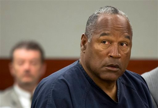 In this May 16, 2013, file photo, O.J. Simpson listens during an evidentiary hearing in Clark County District Court, in Las Vegas.