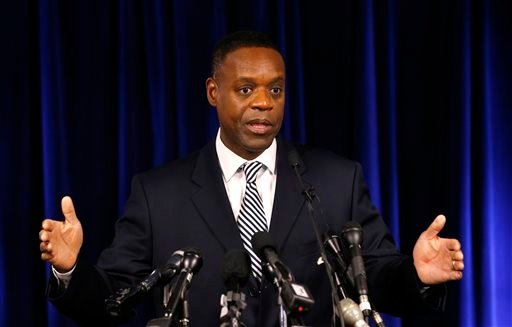 Detroit's emergency manager Kevyn Orr speaks at a news conference in Detroit Tuesday, Dec. 3, 2013. (AP)
