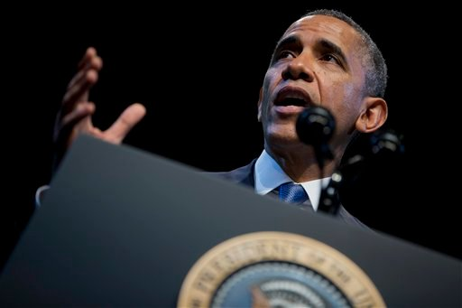 President Barack Obama speaks about the economy and growing economic inequality, Wednesday, Dec. 4, 2013, at the Town Hall Education Arts Recreation Campus in Washington. (AP)
