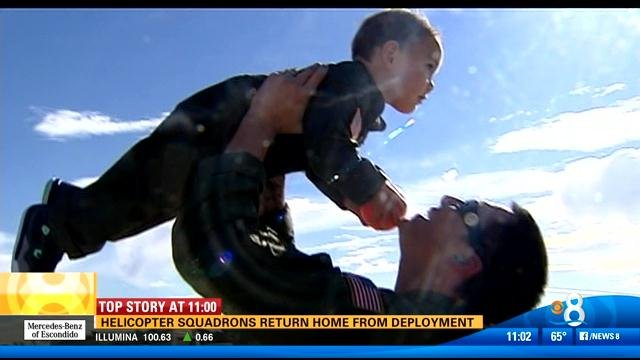 Helicopter squadrons return to San Diego from deployment
