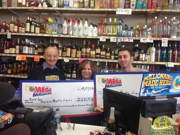 The owners of Square Bottle Liquor in Chula Vista received $13,000 after selling a ticket with 5 matching numbers in Tuesday night's Mega Millions draw.