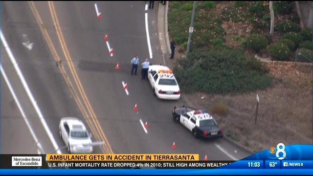 Rollover accident in Tierrasanta Wednesday morning.