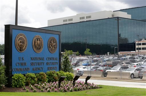 This June 6, 2013 file photo shows a sign outside the National Security Agency (NSA) campus in Fort Meade, Md.