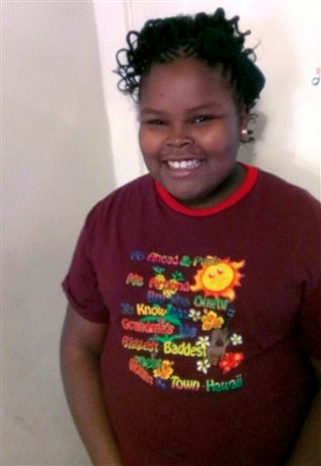 This undated file photo provided by the McMath family and Omari Sealey shows Jahi McMath. (AP Photo/Courtesy of McMath Family and Omari Sealey, File)