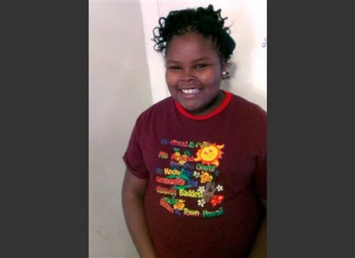This undated file photo provided by the McMath family and Omari Sealey shows Jahi McMath. Jahi was declared brain dead after a tonsillectomy.
