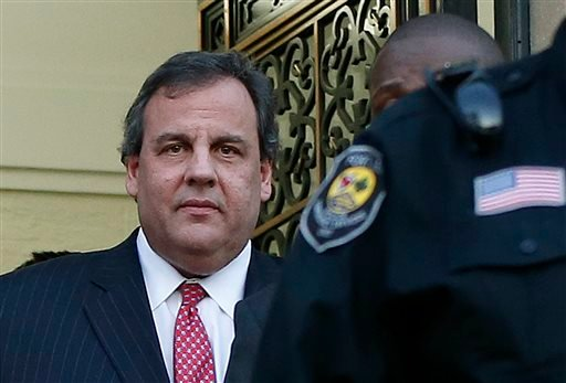 New Jersey Gov. Chris Christie leaves City Hall Thursday, Jan. 9, 2014, in Fort Lee, N.J. Christie traveled to Fort Lee to apologize in person to Mayor Mark Sokolich.
