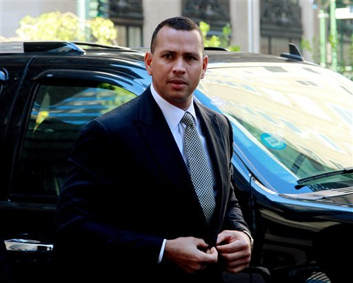FILE - This Oct. 1, 2013 file photo shows New York Yankees' Alex Rodriguez arrivng at the offices of Major League Baseball in New York. (AP)