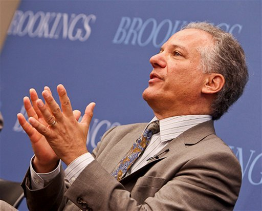 This handout photo provided by the Brookings Institution, and taken on June 25, 2013, shows Health and Human Services Director of the Center for Consumer Information and Insurance Oversight Gary Cohen speaking at the Institution in Washington. (AP)