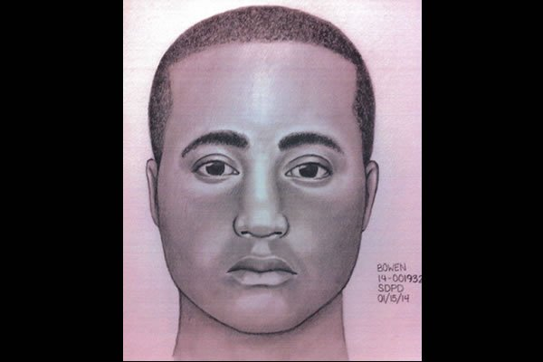Sketch provided by the San Diego Police Department.