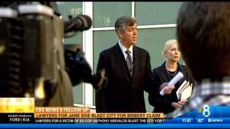 Jane Doe attorneys Joseph Dicks and Linda Workman blast the San Diego city attorney for accusing Doe of panty bribe.