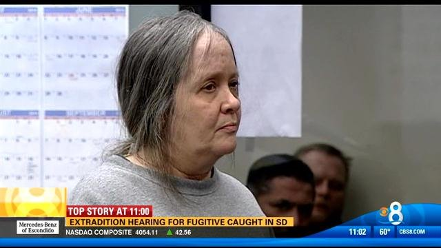 This video screen image shows 60-year-old Judy Hayman in a San Diego courtroom Thursday, February 6, 2014.