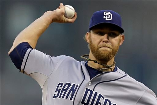 In this Sept. 16, 2013 file photo, San Diego Padres starting pitcher Andrew Cashner throws against the Pittsburgh Pirates in the first inning of a baseball game in Pittsburgh.