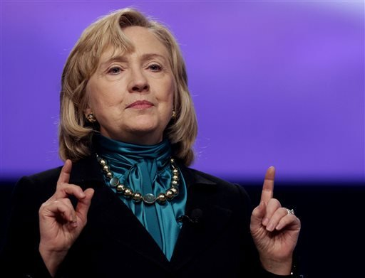 In this Jan. 27, 2014 file photo, former Secretary of State Hillary Rodham Clinton speaks in New Orleans. Liberals may be giving Hillary Rodham Clinton a second look.