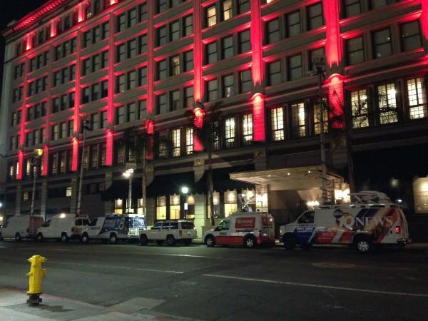 Faulconer election night headquarters at the U.S. Grant Hotel in downtown San Diego.