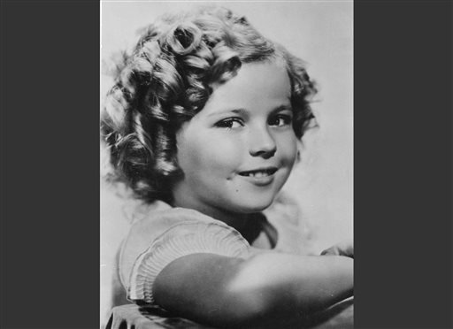 In this November 1936 file photo, 8-year-old U.S. American child movie star Shirley Temple is portrayed in Hollywood, Calif.