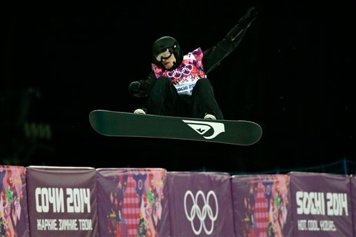 Switzerland's Iouri Podladtchikov competes in the men's snowboard halfpipe final at the Rosa Khutor Extreme Park, at the 2014 Winter Olympics, Tuesday, Feb. 11, 2014, in Krasnaya Polyana, Russia. Podladtchikov won the gold medal.