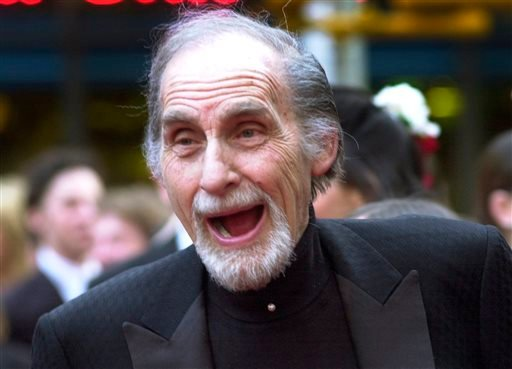 "FILE - In this May 5, 2002 file photo, Sid Caesar, of ""Your Show of Shows,"" arrives at NBC's 75th anniversary celebration in New York. (AP)"