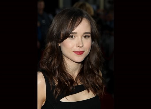 "Ellen Page arrives at the LA premiere of Fox Searchlight Pictures' ""The East"" presented by Piaget in this May 28, 2013 file photo taken in Los Angeles."