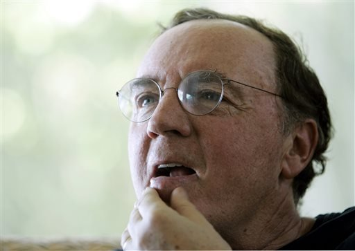 FILE - In this May 3, 2006, file photo, author James Patterson contemplates a question during an interview at his home overlooking the Intracoastal Waterway in Palm Beach, Fla. (AP Photo/Wilfredo Lee, File)
