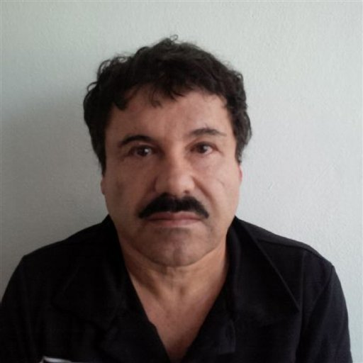 "In this image released by Mexico's Attorney General's Office, Saturday, Feb. 22, 2014, Joaquin ""El Chapo"" Guzman is photographed against a wall after his arrest in the Pacific resort city of Mazatlan, Mexico."