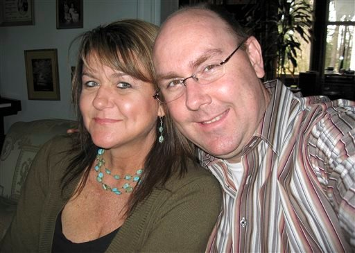 This 2007 photo released by Michael Stubblefield, Stubblefield poses for a photo with his sister, Shelia Russo, in New York state.