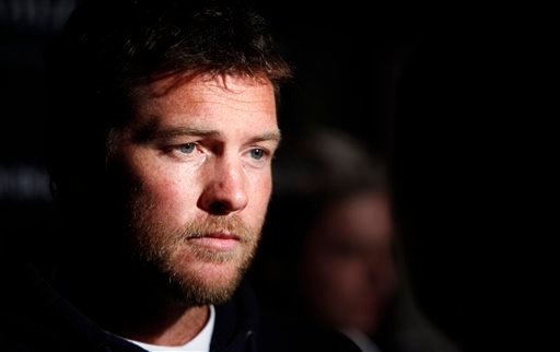 """In this Jan. 19, 2012 file photo, Actor Sam Worthington attends the Cinema Society premiere of """"Man on a Ledge"""" in New York."""