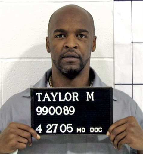 April 27, 2005 file photo provided by the Missouri Correctional offices is Michael Taylor who was sentenced to die for abducting, raping and killing a 15-year-old Kansas City girl in 1989. (AP Photo/Missouri Correctional Office, File)