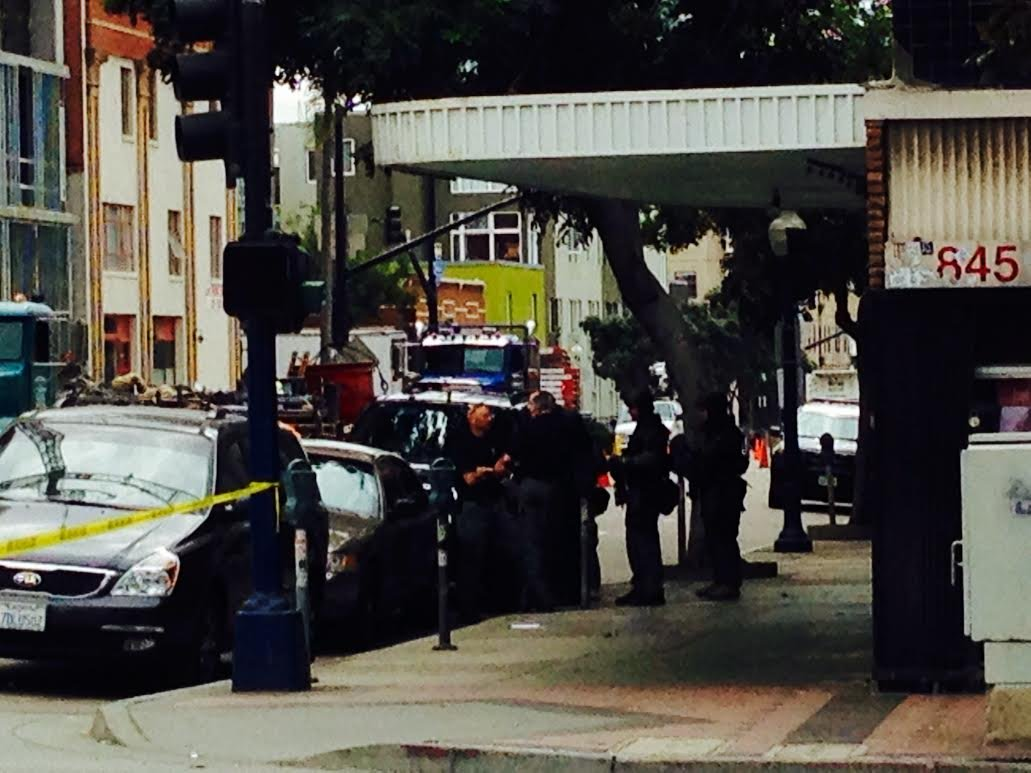 Photo of the scene courtesy: CBS News 8's Gene Kang.