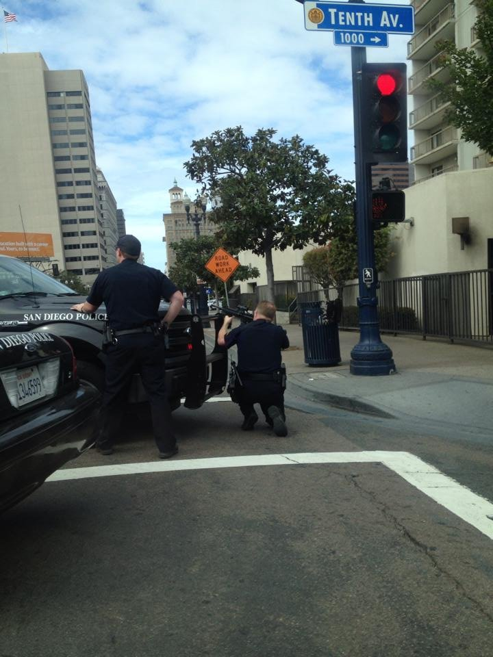 This photo from the scene is courtesy of a CBS News 8 Facebook follower: L. Macías