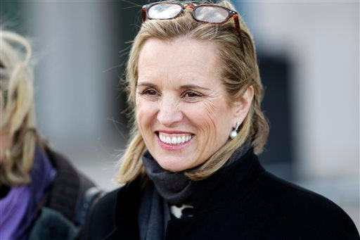 Feb. 26, 2014 file photo, Kerry Kennedy leaves Westchester County courthouse in White Plains, N.Y. Deliberations are due to resume Friday, Feb. 28 in Kennedy's drugged-driving trial. (AP Photo/Frank Franklin II, File)