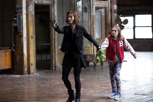 """This photo released by NBC shows Sienna Guillory, left, as Moore, and Johnny Sequoyah as Bo, in the pilot of the new NBC television series, """"Believe."""""""