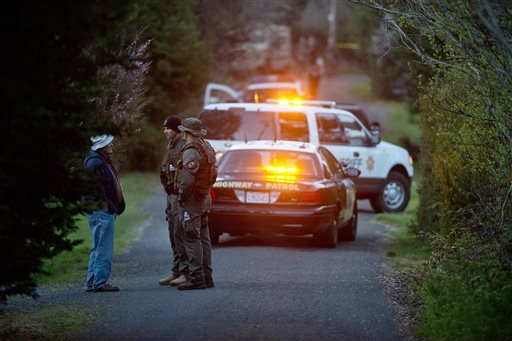 Authorities say that on Wednesday, Ricardo Antonio Chaney, an armed kidnapping suspect, exchanged gunfire with the owner of a roadside attraction on the California Coast, then shot and killed Fiorentino. (AP Photo/The Press Democrat, Alvin Jornada)