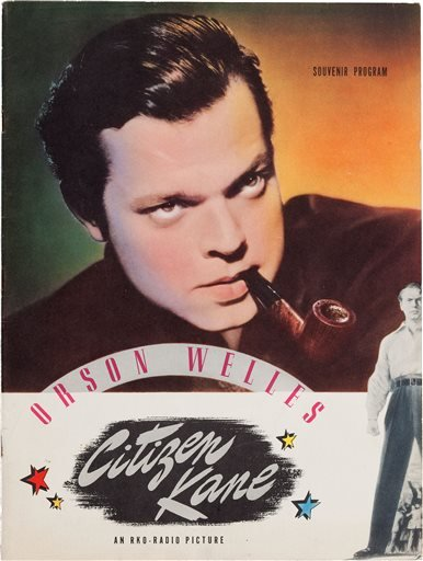 """This photo provided by Heritage Auctions shows Orson Welles' personal copy of a souvenir program from his classic 1941 film, """"Citizen Kane."""" (AP Photo/Heritage Auctions)"""