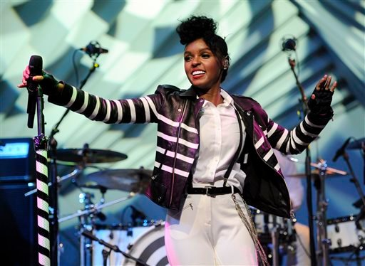 Janelle Monae performs during a launch party for the Audi M3 on Thursday, April 3, 2014 in West Hollywood, Calif. (Photo by Chris Pizzello/Invision/AP)
