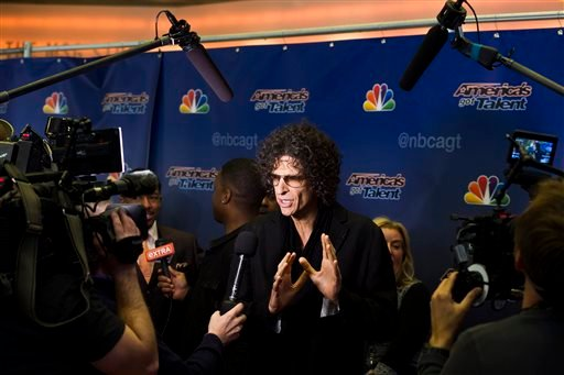 """Howard Stern arrives for an """"America's Got Talent"""" taping at Madison Square Garden on Friday, April 4, 2014, in New York. (Photo by Charles Sykes/Invision/AP)"""