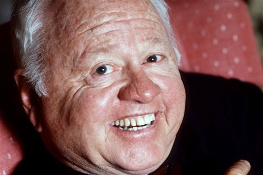 Entertainer Mickey Rooney is shown in this May 1987 file photo. Rooney, a Hollywood legend whose career spanned more than 80 years, has died. He was 93.