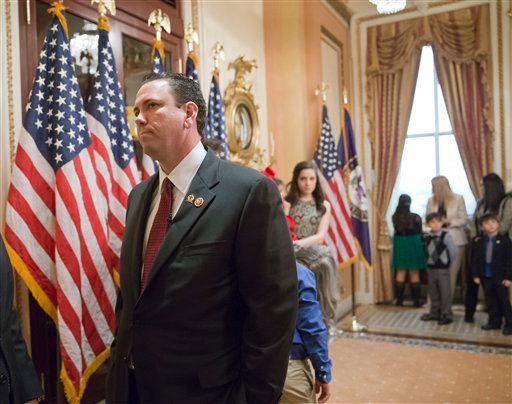 This photo taken Nov. 21, 2013 shows then-newly-elected Rep. Vance McAllister, R-La. waiting to be sworn in on Capitol Hill in Washington. (AP)