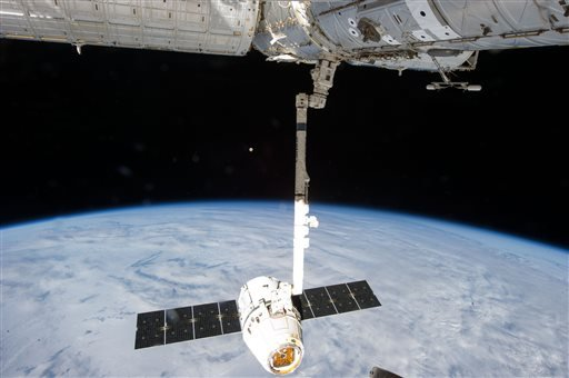 This Tuesday, March 26, 2013 file photo provided by NASA shows the release of the SpaceX Dragon-2 spacecraft from the International Space Station.