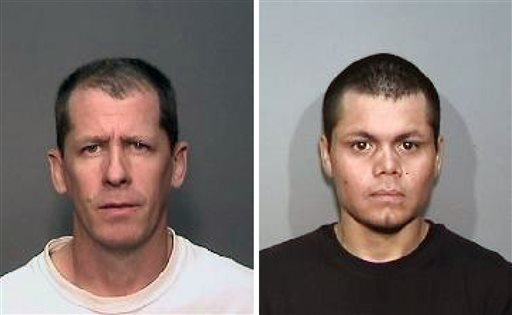 Combination of updated photos from Megan's Law website: suspects, Steven Dean Gordon, 45, left, and Franc Cano, 27, who were arrested April 11, 2014 on suspicion of killing four women in Orange County. (AP Photo/Megan's Law)